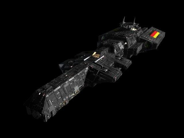 space ship battleship 3d model