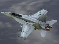 navy fa18f fighter black aces 3d model