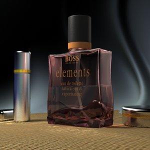 3d model of perfumes