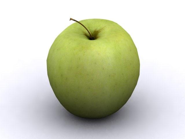 golden delicious apple 3d max