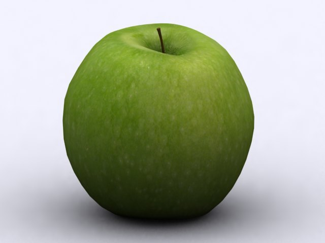 granny smith apple 3d model