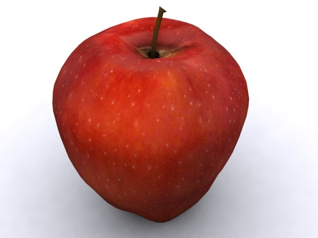 red delicious apple 3d max