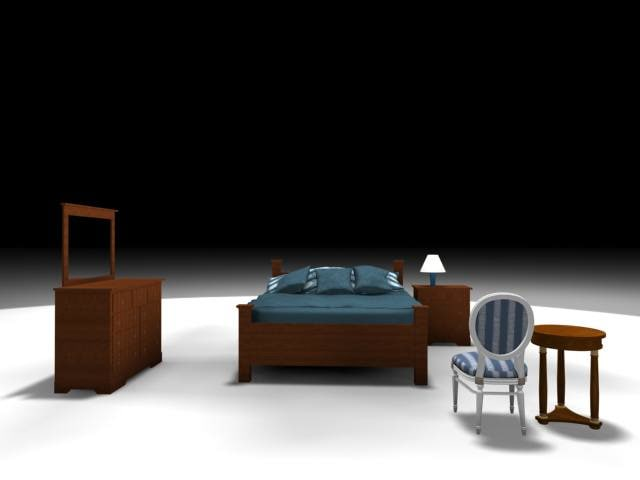 bedroom chair bed 3d max