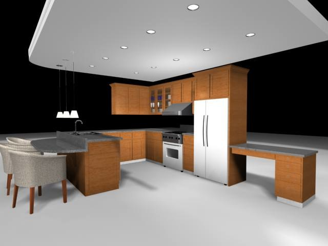 kitchen stove refrigerator 3d max
