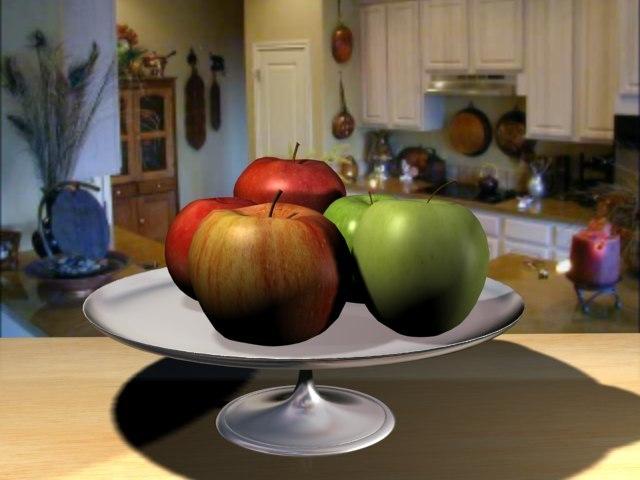 3d apples fruit model