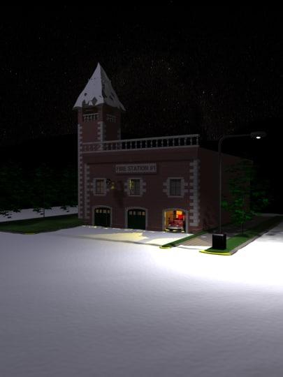 snow station 3d model