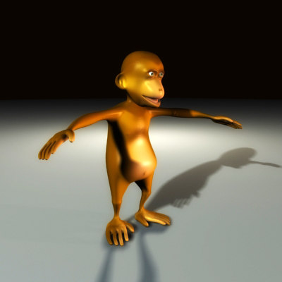 3d baby chimp updated model