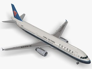 airbus a321 china southern 3d model