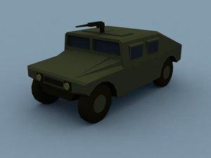 3d m1025 hmmwv hummvee model