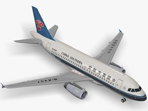 airbus a319 air china 3d model