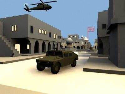 urban combat military m113 3d model