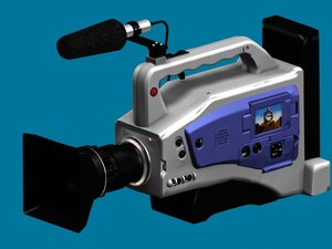 3ds max digital camcorder camera