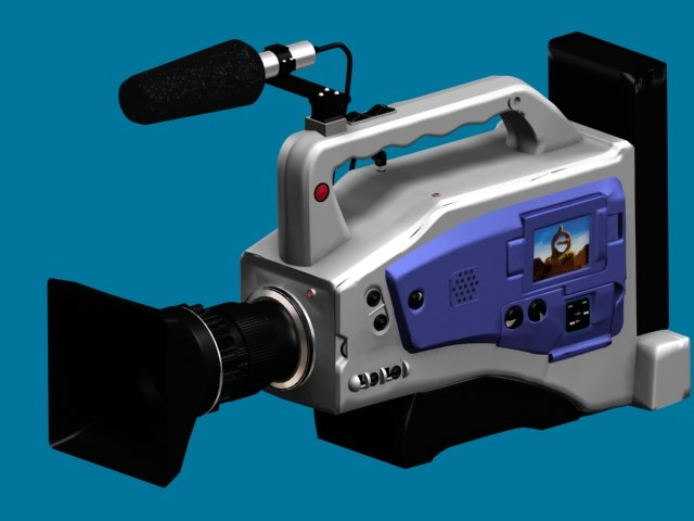 3ds max digital camcorder camera