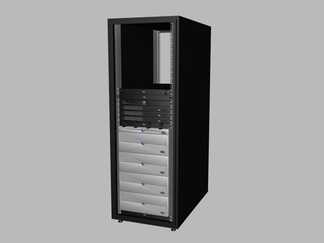 server dell rack 3d model