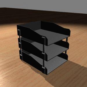 paper trays 3d max