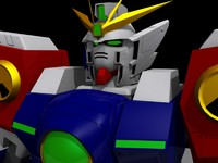 free wing zero gundam suit 3d model