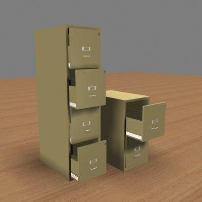 file cabinets 3d model