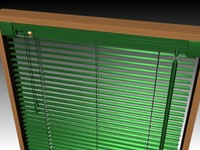 louvered blinds 3d model