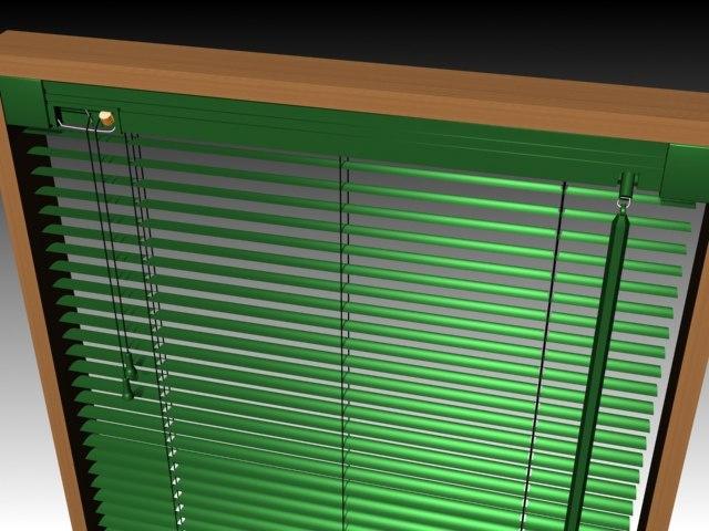 louvered blinds 3d model
