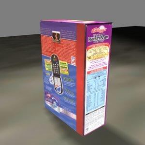 3d cereal box model