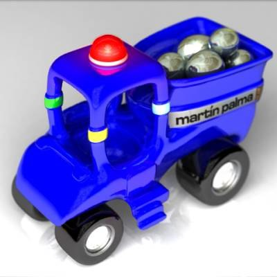 3d truck toy