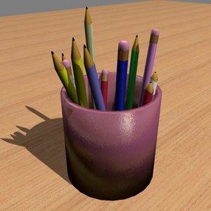 free pen pencil 3d model