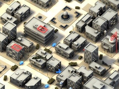 3d urban combat buildings stage-01 model