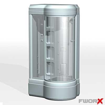 3d model of shower cabin