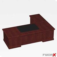 free desk executive 3d model