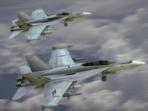 navy fa18e fa18f superhornet 3d 3ds