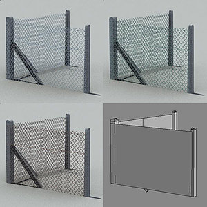 industrial fence 3d model