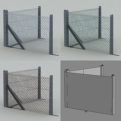industrial fence 3d model