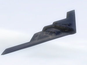 b2a spirit stealth bomber 3d model