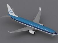 3ds max b 737-900 klm