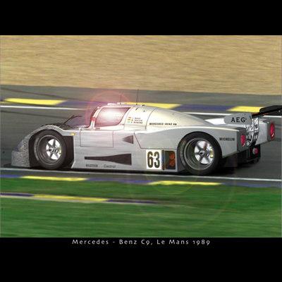 3d mercedes benz c9 car model