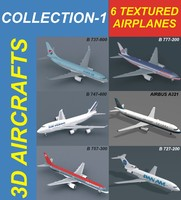 3d 6 aircrafts air a321 model