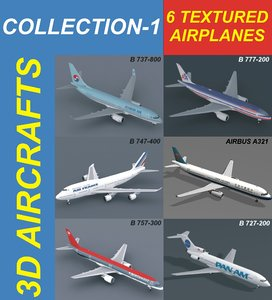 3d 6 aircrafts air a321 model
