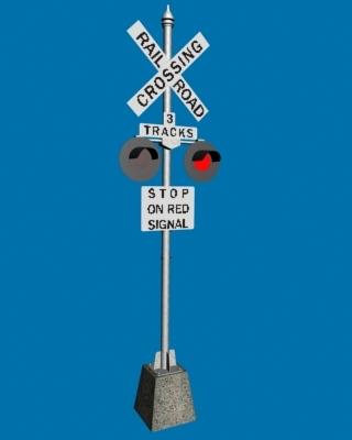 3d model crossbuck intersection