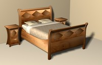 bed furniture 3d max