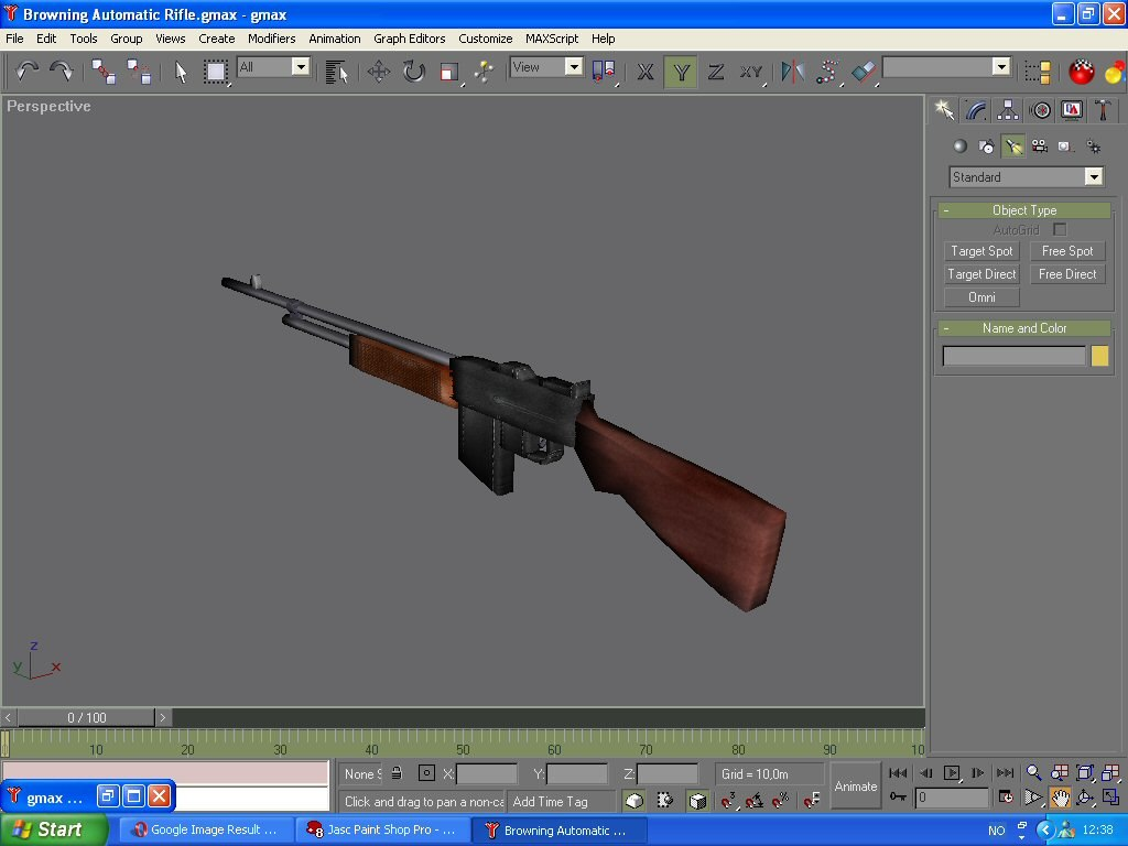 free gmax browning automatic rifle 3d model