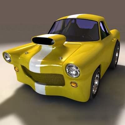custom sports car 3d c4d