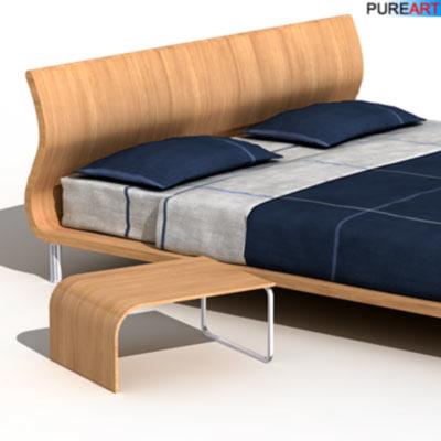 3d antea double bed