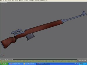 free max model svt-40 sniper rifle