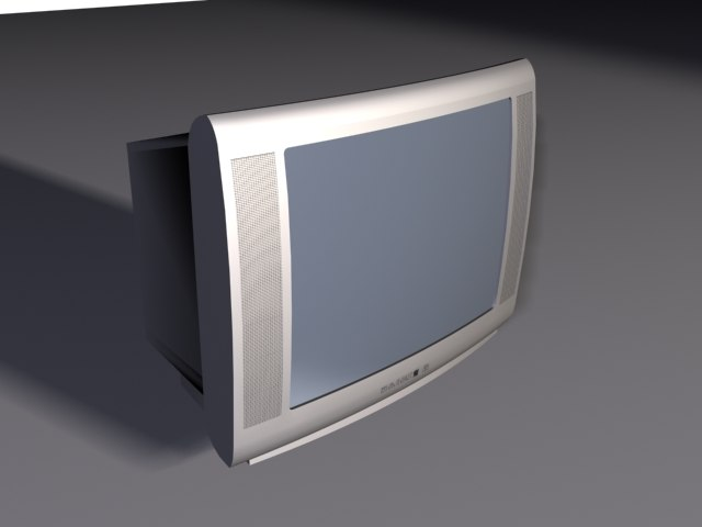 3ds max television rca style