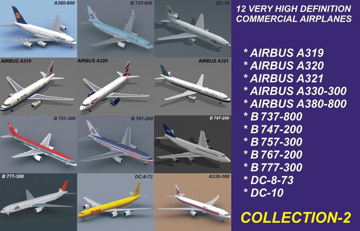 12 air airbus a319 3ds