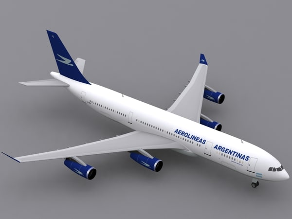 3d airbus a340-200 aerolineas argentinas model