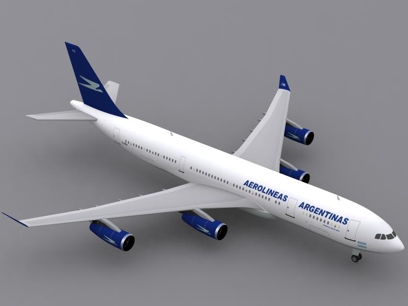 3d airbus a340-200 aerolineas argentinas model