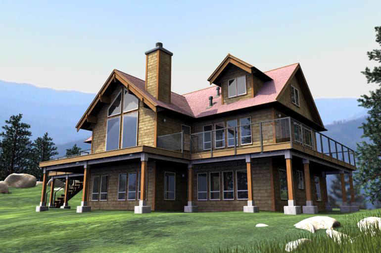 3ds max country home