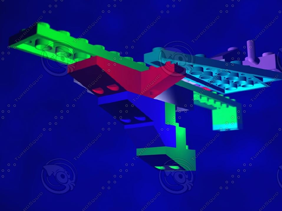 lego ship 3d 3ds