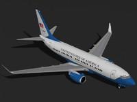 b 737-700 c-40b aircraft c4d
